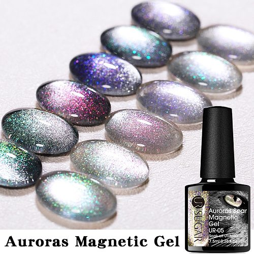UR SUGAR Auroras Cat Magnetic Gel Nail Polish Snowlight Cat Magnetic Nail Gel Varnish Soak Off UV Gel Varnish for Nail Art