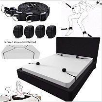 BDSM Bondage Gear Set Handcuffs Ankle Cuff Restraints Sex Toys for Women Men Couples Adult Games Erotic Furniture Accessories