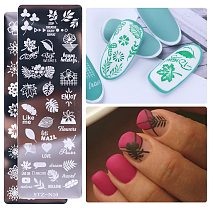 1pcs Tropical Leaf Nail Stamping Plate Jewelry Butterfly Geometric Design Polish Stencil Nail Art Template Mold CHSTZN01-12-1