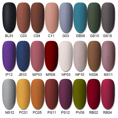 BORN PRETTY Matte Top Coat Color Nail Gel Polish Soak Off UV Led Gel Varnish Permanent varnish  Nail Art