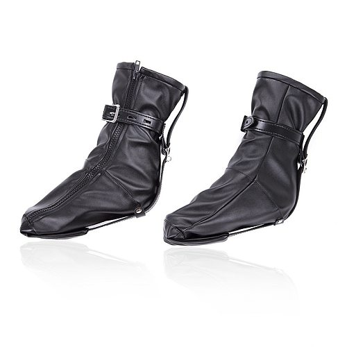 BDSM Bondage Soft PU Leather Padded Boot For Women Booties Feet Restraint Socks Female Foot Fetish Ankle Cuffs SM Legcuffs