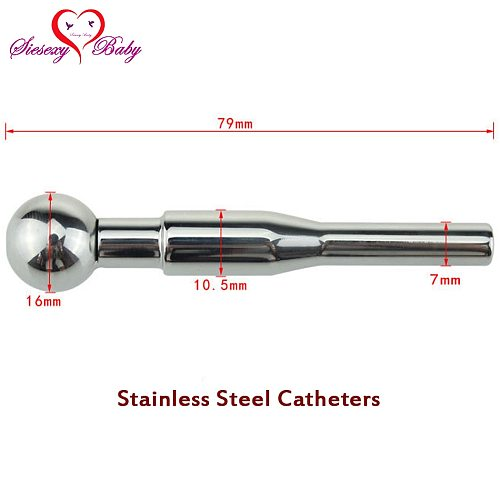 DA-035 7*79mm Sex Fetish Hollow Stainless Steel Penis Plug Urethral Dilators Catheters sounds Prince Stretching Sex Toys for Men