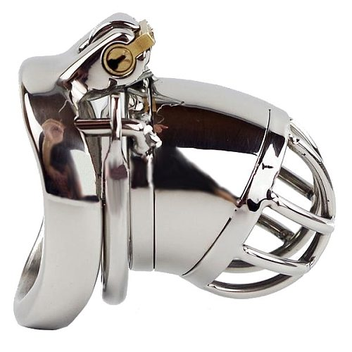 Stainless Steel Cock Cage WINDOW OF OPPORTUNITY MALE CHASTITY DEVICE 1.97 INCHES LONG
