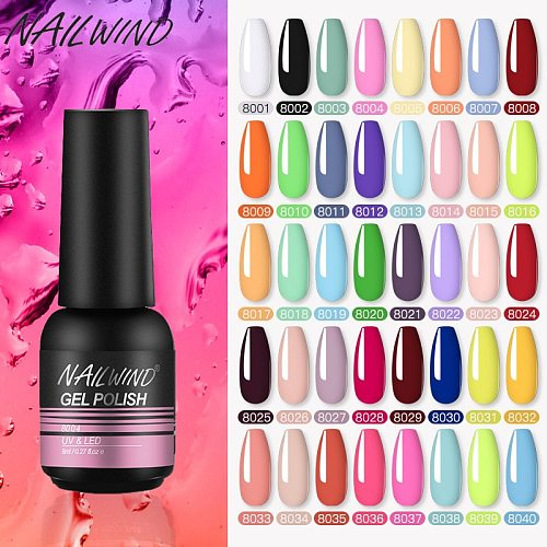 Nailwind Nail Polish 8ml Gel Varnish Paint Semi Permanent Nails Art Gel Nail Polish For Manicure Set Gellak Top Coat Gel Polish