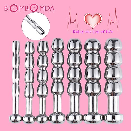 SM Penis Plug Stainless Steel Urethral Dilator Toys Urethral Plug Male Urethral Dilator Catheter For Men Masturbation Sex Shops