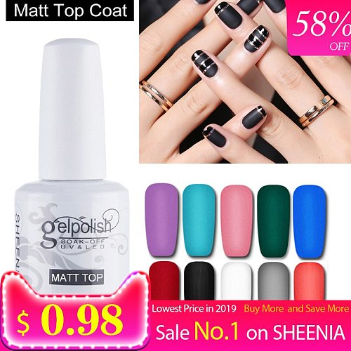 15ml Nail Gel Polish No Wipe Top Coat Base Coat Varnishes Nail Gel Primer Long Lasting Soak off UV Gel Polish Nail Art Manicure