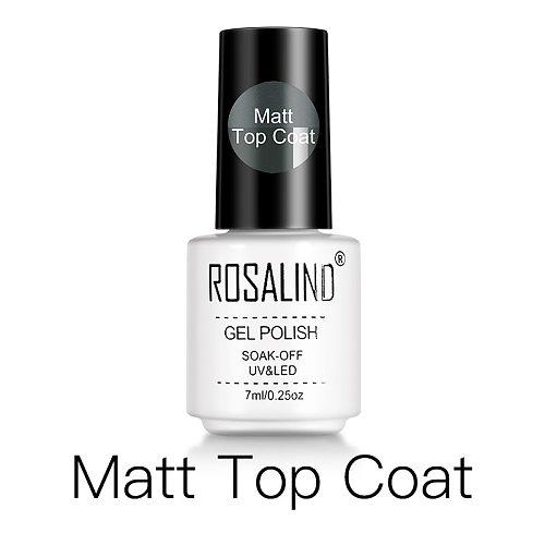 ROSALIND Gel Polish Matt Top Coat UV Lamp Gel Soak Off Reinforce 7ml Long Lasting Nail Art Manicure Gel Lak Varnish Primer