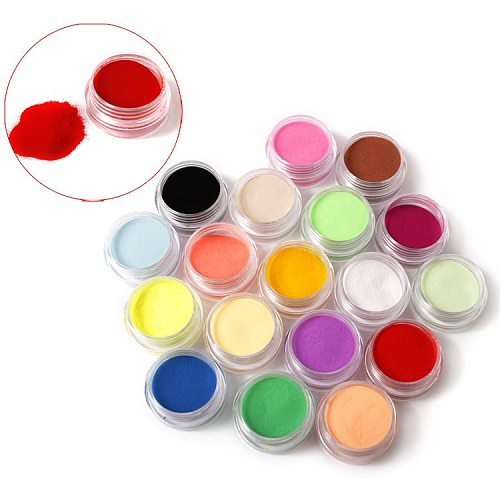 12 Colors Acrylic Powder Manicure Tips Nail Art 3D Decoration Builder Polymer