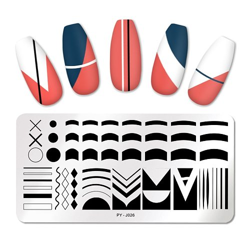 PICT You Nail Stamping Plates French Tip Pictures Nail Art Stamping Template Stainless Steel Nail Design Stencil Tools