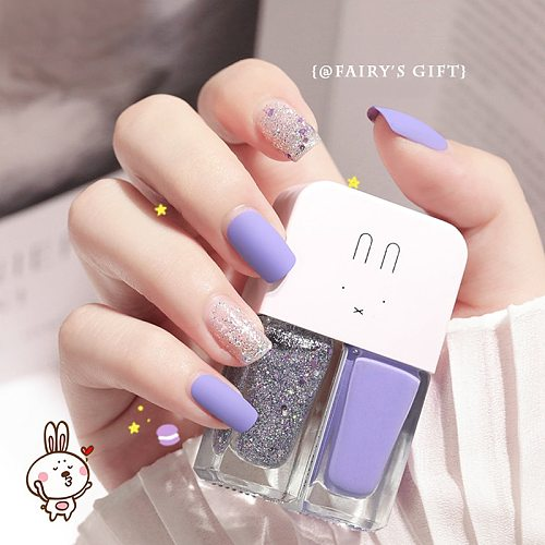2 In1 No Baking Gel Nail Polish Lasting Quick Drying Non-Toxic Non-Tearable Nail Varnishes Hybrid Lacquer for Manicure Nail Art
