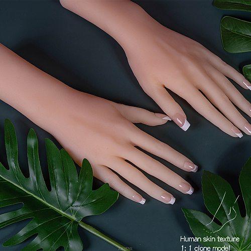 Human Model Hand Nail Sketch Drawing Sandal Display Art with Stand Posable Adjustable Artist Flexible Acrylic TPE ZISHINE S5
