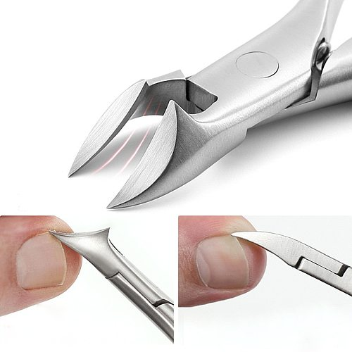 Stainless steel nail clippers trimmer Ingrown pedicure care professional Cutter nipper tools for feet toenail paronychia improve