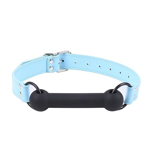 New Cute Solid Leather Harness Mouth Silicone Dog Bone Ball Gag BDSM mouthPlug Couples Flirting Sex Products toys Adult Games