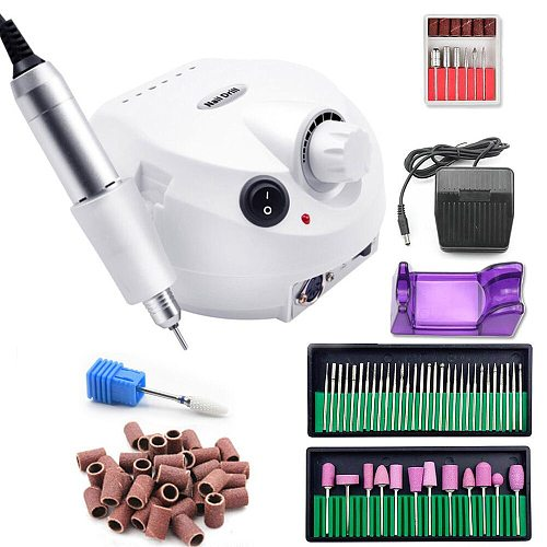 Pro 35000RPM Professional Electric  Nail Drill Machine With Milling Cutter For Manicure Machine Nail Pedicure Nail Tools