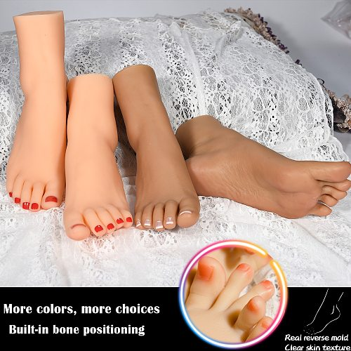 Wheat Foot Model Cloned Silicone Female Fake Nail Display Tarsel Bone Ankle Rubber Male Plastic Mannequin Dummy Human 3804