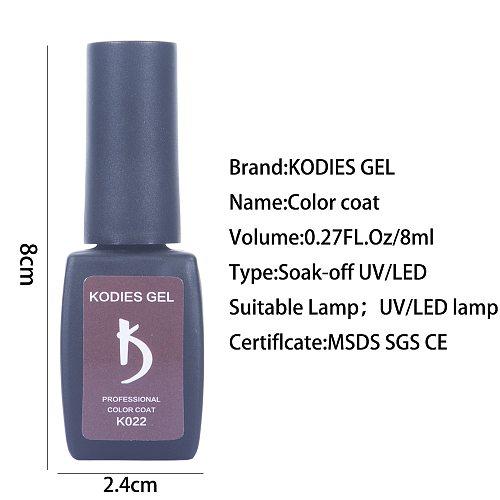 KODIES GEL 8ML Nail Gel Polish Varnish Soak Off Summer uv Gelcolor Manicure Semi Permanent Vernis Gellak Polish for Nails Art