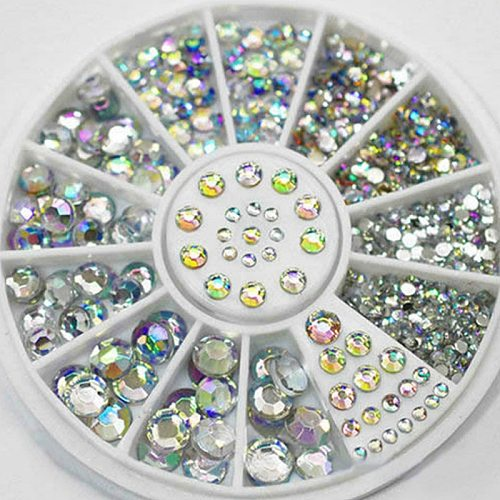 1Pcs Colorful Shiny Stone Acrylic Powder Gel Nail Polish Nail Art Decorations Crystal Manicure Professional Nail Accesorios