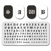 Hot Nail Art Stamping MouTeen014 Goth Letter Gothic Style Words Nail Stamping Plates Manicure Stencil Set For Nail Stamping