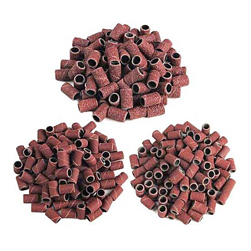 100pcs Nail Art Sanding Bands For Electric Nail Dril Machine Drill Bits File For UV Gel Polish Acrylic Remover 80''/120''/180