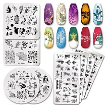 PICT YOU Christmas Nail Stamping Plates Snowflake Festival Pattern Nail Art Image Plates Stainless Steel Nail Art Plate Stencil