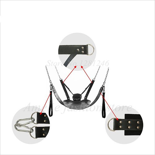 Top Quality Two Layers Leather Sling Sex Hammock Sex Swing Chair Leather bed Hammock and Pillow Adult Games Sex Toys For Couple