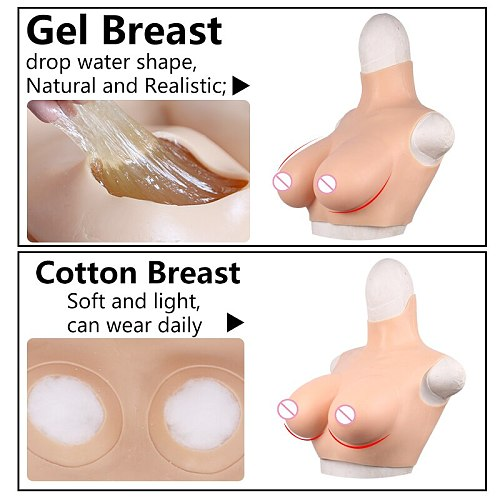 Eyung Realistic Silicone Cross Dresser Huge Fake Breast Forms Boobs for Drag Queen Sissy Mastectomy Transvestite Brust Prothesis