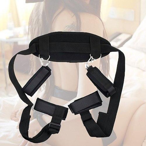 Bdsm Bondage Sex Toys for Women Couples Handscuff Neck Ankle Cuffs BDSM Bondage Restraints Slave Straps Adult Games Sex Product
