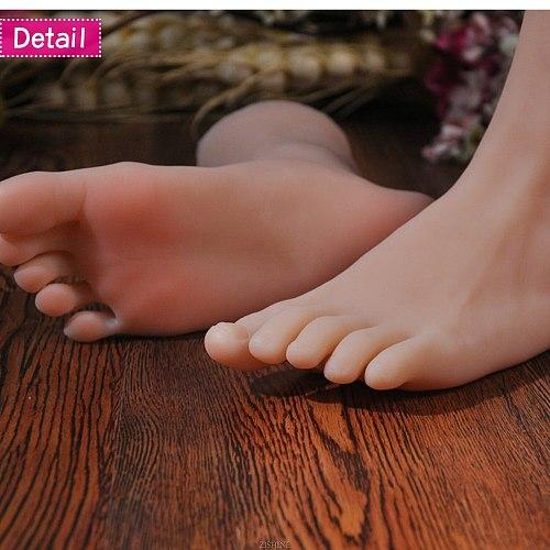 Silicone Foot Model Lifesize Female for Sketch Drawing Shoe Socks Sandal Display Art TPE Sketch Medicine Stage Nail ZISHINE 3905