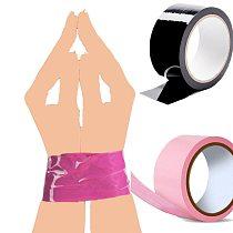 BDSM Fetish rope Bondage Tape slave sex toys provocative alternative tied Self-adhesive tape blindfolds role play harness body