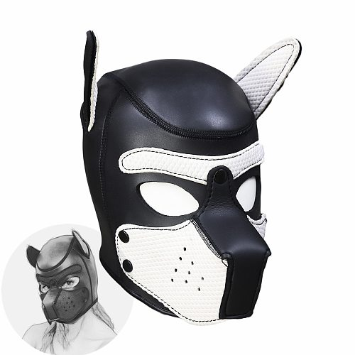 Erotic Headgear SM Bondage Toys of Latex Puppy Play Head Mask Hoods for Men Women Fetish Adults Games Sex Products