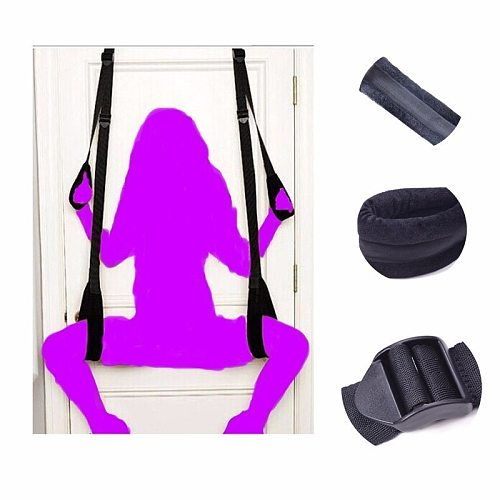 Black Appeal Accessories Restraint Fetish Bondage Love Hanging Door Swing Chairs Sex Toys Sm Games For Woman Man Couples