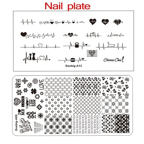 2020New  Brand Nail Stamping plate(6x12) Nail Stamping plates designer Nail Stamping Plate Biutee Brand Design 37pcs
