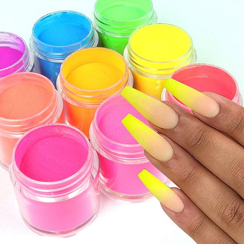 5g Acrylic Powder Neon Pigment Crystal Powders For Nail Polish Nail Art Decorations Professional Nail Accessory RIKONKA