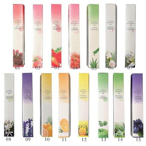 Nail Nutrition Oil Pen 15 Smells Rose Smells Nail Treatment Cuticle Revitalizer Oil Prevent Agnail Nail Polish Nourish Skin