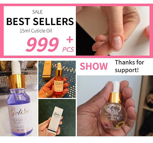 15ml Lily Cuticle Oil Nail Treatment Care Softener Remover Repair Protector Tool 8 Flower Flavor Smell Transparent Revitalizer