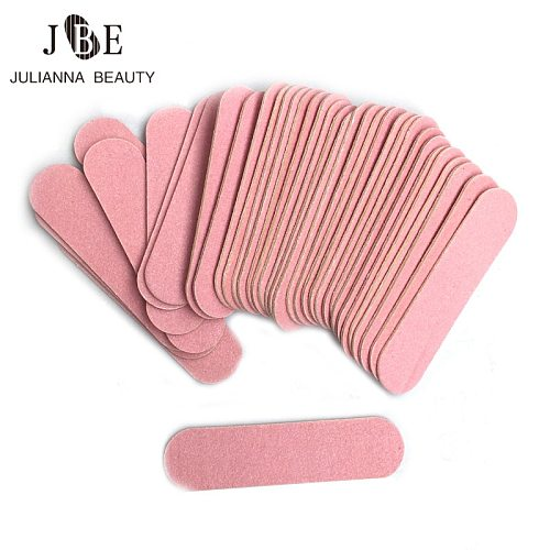 100 pcs Mini 6cm Professional Nails Files Art Tools Sand Emery Board Sandpaper Double-Sided Nail Buffer 100/240 Grit Nail Art