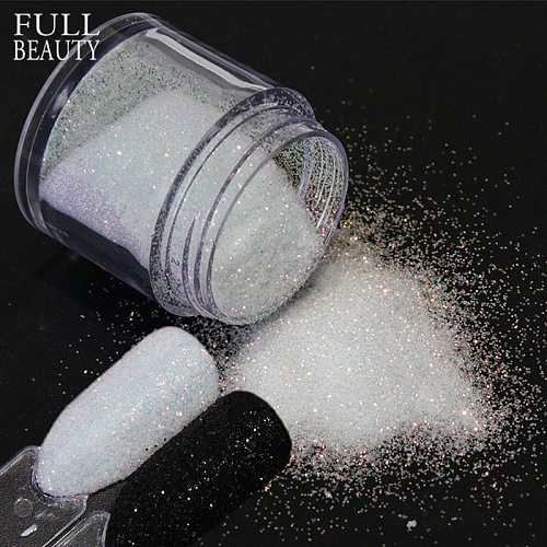 1 bottle Black White Shinning Dazzling Nail Glitter Powder Gel Polish Holographic Pigment Nail Art Dust Manicure Decor CH26/48-1