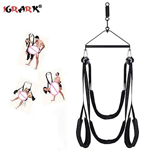 Adult Indoor Swing Set Indoor Swing with Adjustable Soft Straps Holds up to 800 lbs swing and tripod bracket +spring + nut plug