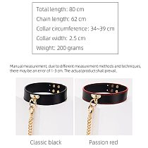 Sexy Genuine Leather Chain Collar with Leash BDSM Bondage Fetishs Collar Adult Lingerie Sex Accessories for Woman Jeux Sexuel
