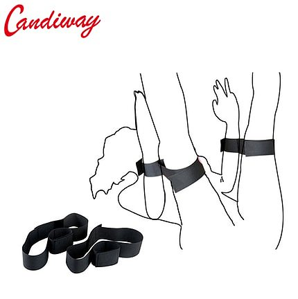fantasy Bondage Boutique Soft Wrist-to-Thigh Cuffs Strap On BDSM Extreme Expandable cosplay game sex toys for couples