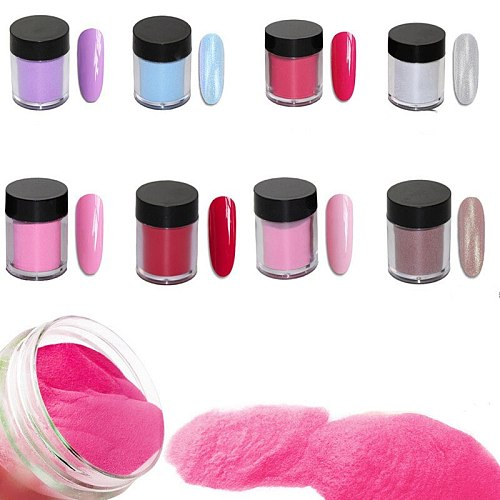 Solid Dip Powder White Clear Acrylic Powder Nail Dust 11 Colors Chrome Nail Powder FA-46 Dipping Powder Pigment For Nails Art G3