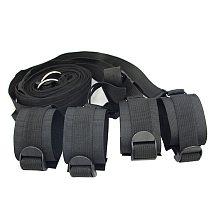 Bed Jam Sex Restraint Kit Adjustable Belt Nylon Handcuffs Ankle Cuffs Under Bed BDSM Bondage Erotic Toys Fixation Adult Game