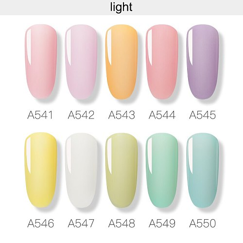 ROSALIND Neon Hybrid Varnishes Gel Nail Polish Luminous Nail Art Top Base Gel All For Manicure Gel Nail Lacquer Semi Permanent