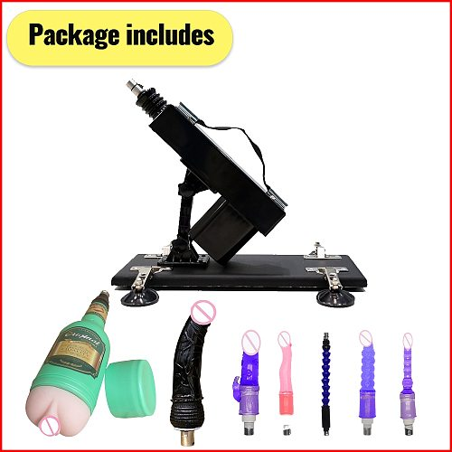 Sex Machine for men and women female vibrator with 7 nozzles adjustable angle retractable machine guns sex-toys for Female