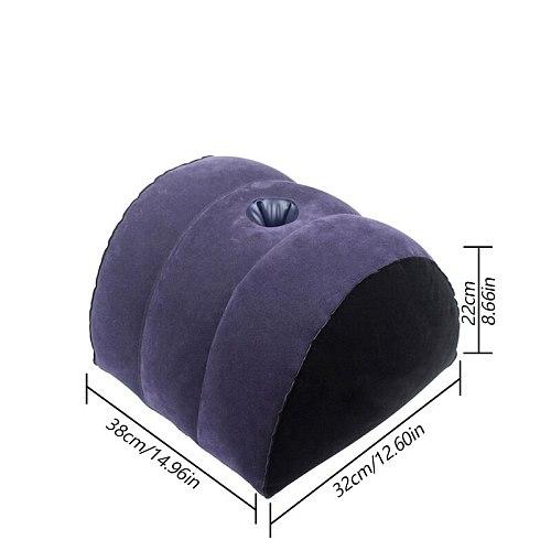 Adult Sex Toys Flocking Inflatable Sex Pillow Soft Chair Sexe Toy Couple Dildo Vibrator Woman Masturbation Sex Chair Furniture