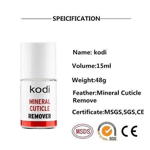 KODI 15ML mineral cuticle remover Dried Nail Cuticle Oil Care Finger Transparent Revitalizer Nutrition Nourishing Liquid