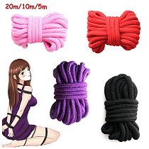 20 m/10 m/5 m  Soft Cotton Rope For Female Couple Sex Product Slaves BDSM Bondage Adult Games Binding Rope Role-Playing Sex Toys