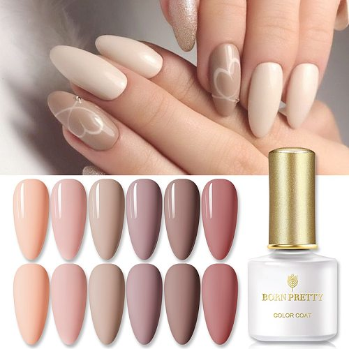 1 Bottle UV Gel Nail Polish  Nail Color Gel Varnish Glitter Soak Off Nature Pink Series varnish DIY Nail Art DIY Design 6ml