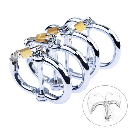 Restraints BDSM Metal Handcuffs with Keys Sex Toys for Couples Ankle Cuff Bondage Bracelet Erotic Adult Cosplay Sexshop