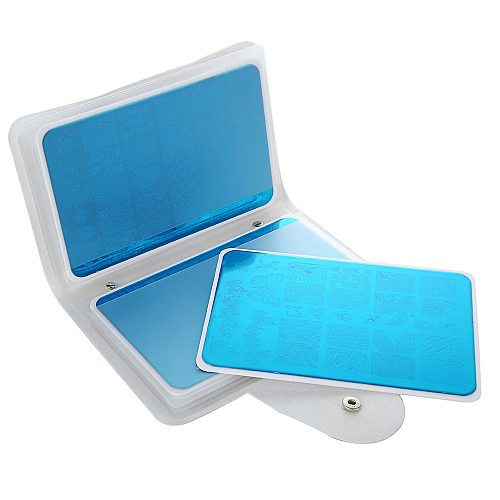 16 Slots Large Rectangular Nail art Stamping Plate Holder Stamp Template Concise Organizer Empty Case